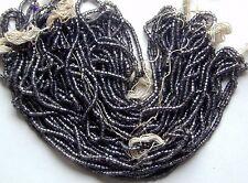 Pewter Gray Vintage Glass 11/0 Seed Beads Mini Hanks Lot Beautiful Hue (7178729)