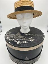 Antonio Figeuira De Freitas Boater Hat & Woodward Lothrop Washington DC Hat Box