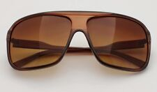 Brown Plastic Pilot Sunglasses Retro Falt Top Police 70 Fashion Square Frame