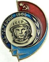 1961 Vostok Yuri Gagarin Pin Badge Russian Cosmonaut First Man in Space USSR