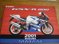 SUZUKI GSX -R600 MOTORBIKE BROCHURE 2001 - POST FREE (UK)