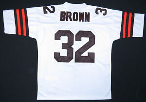 NWOT Jim Brown Cleveland Browns 1964 Mitchell Ness Throwback NFL Football Jersey