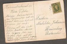 Sweden 1908 dog pulling girl carriage pc Hunnebostrand-Matilda Johansson Rolanda
