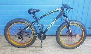 Fat Bike, Mountain Bike/Bicycle, Fat Tire/Tyre - Suspension - Matt Black