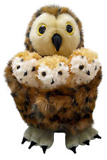 The Puppet Company - Hideaway Puppet - Tawny Owl Family with 3 finger puppets