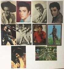 "ELVIS PRESLEY LOT OF 10 VINTAGE POSTCARDS 4-1/4"" X 6"""