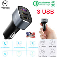 Universal Quick Charge Qc3.0 Fast 42W 4.8A Triple 3 Usb Port Car Charger Adapter