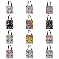 Women Medical Print Canvas Handbag Fashion Bookbag Shopper Shoulder Bags Eco Bag
