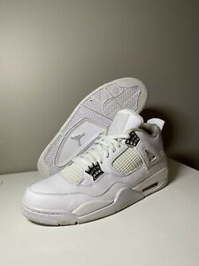 Nike Air Jordan 4 IV Retro Size 11.5 'Pure Money' 2017 White Silver 308497-100