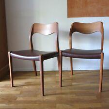 Niels Moller teak chair 71 Danish Design Midcentury