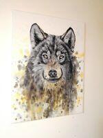 Peinture animalière, tableau surréaliste, huile sur toile format 30/40 cm