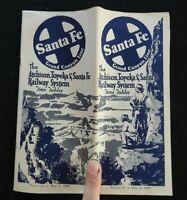 "1928 Santa Fe Railroad - ""GRAND CANYON LINE"" HARVEYCAR Brochure Indian-Detour NM"