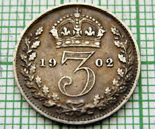 GREAT BRITAIN EDWARD VII 1902 THREEPENCE 3 PENCE, SILVER