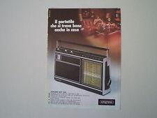advertising Pubblicità 1974 RADIO GRUNDIG CONCERT BOY 1100