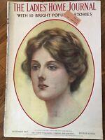 1907 NOVEMBER LADIES' HOME JOURNAL MAGAZINE - GREAT ILLUSTRATIONS & ADS