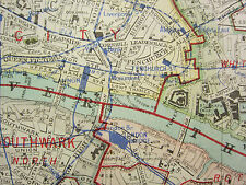 1920 CITY PLAN MAP LONDON NORTH EAST RAILWAY UNDERGROUND ISLINGTON WESTMINSTER