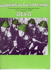 "DEVO ""WORKING IN THE COAL MINE"" SHEET MUSIC-PIANO/VOCAL/GUITAR/CHORDS-1981-NEW!!"