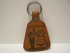 Andy Capp - 1970's Leather Key Ring - Very nice condition. RARE
