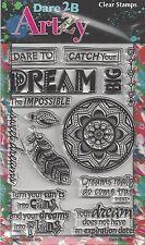 Dare 2B Artzy Dream Big Clear Cling Rubber Stamps
