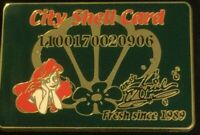 Ariel City Shell DS Little Mermaid Shopping LE Credit Card NOC disney pin  B30