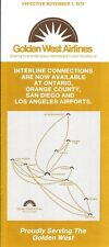 Airline Timetable - Golden West - 01/11/79 - Shorts 330 image