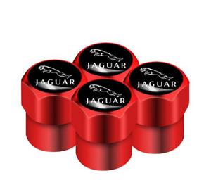 Jaguar XF XE XJ XJ6 S X E F-Pace F-Type XKR Aluminum Valve Cap RED Wheel Tyre