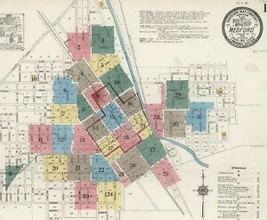 Medford, Oregon ~Sanborn Map© sheets with 31 maps~1911 in color on CD