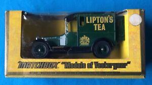 1970's Matchbox Models of Yesteryear Y-5 1927 Talbot Van Lipton's Tea  MIB