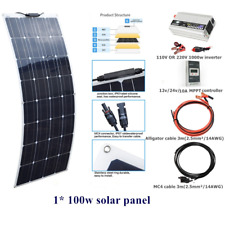 100w Solar Panel Solar System+10A Mppt Controller+1kw inverter for Car Boat Home