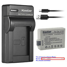 Kastar Battery Slim USB Charger for Canon LP-E5 LC-E5 & Canon EOS 1000D Camera