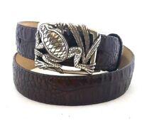 Brighton New Black  HUDSON PATCHWORK Leather Belt Size 34 42  NWOT     M11033