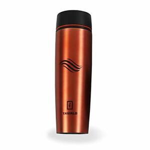 TAVIALO Thermal Bottle, Travel Mug, 460 ml, Orange, Stainless Steel Thermos