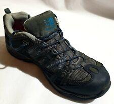 karrimor walking shoes UK Size 8 Eu 4 Grey lace up Camping Hiking trainers Free