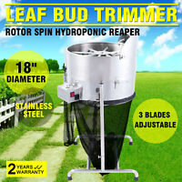"18"" Electric Hydroponic Leaf Bud Tumble Trimmer 3 Speed Automatic Trim Reaper"
