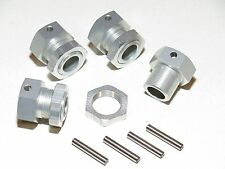 YY-ADAPTER CONVERSION HEXES FOR REDCAT RAMPAGE TO 1/5 HPI BAJA 24MM WHEEL SILVER