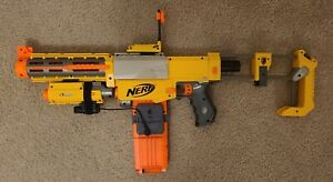 Nerf N-Strike Recon CS-6 Blaster w/ Sight & Real Red Dot Laser Attachment!