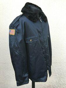 "Vintage U.S Security Navy Blue Bomber Flying Jacket 58"" Chest-BNWOT"