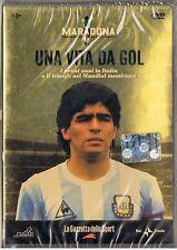 MARADONA UNA VITA DA GOL - DVD NUOVO INCELLOFANATO EDIZIONE GAZZETTA SPORT 2007