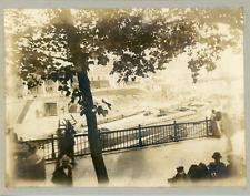 France, Paris, Bateaux près des quais, ca.1905, vintage silver print Vintage sil