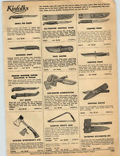 1959 PAPER AD Knife Kinfolks Hunting Campers Trail Master Estwing Axe Finnish