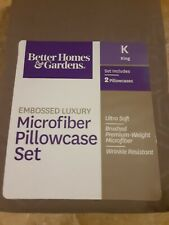 Gray Luxury Microfiber 2 Pillowcases King Better Homes & Gardens New