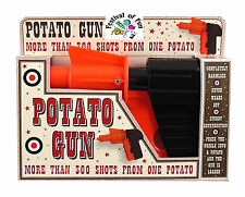 Spud pistola Pistola de patata ~ ~ fuego piezas de patata! ~ Clásico Retro Juguete Novedad ~ Nuevo