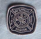 "Qu'Appelle Fire and Rescue Patch -  Saskatchewan, Canada - 3"" x 3"""