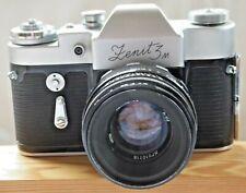 Zenit 3m Lens Hellios-44 58mm f2   5 Speed Shutter Self Timer with EV Case