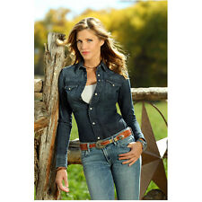Killer Women Tricia Helfer Molly Parker Against Fence Serious 8 x 10 Inch Photo