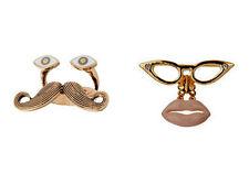 Retro Vintage Estilo Moustache Bigote / Eye / Boca Anillo encanto múltiples opciones