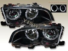 99 2000 2001 BMW E46 Twin Halo 3 Series Projector Headlights 2Door Coupe