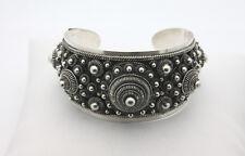 "Sterling Silver .925 Vintage Tibet Bead 5.5"" Inch Cuff Bracelet 56.7g  #2992"