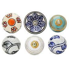 Colorful Boho Decorative Furniture Accessories Cupboard Ceramic Door Knobs
