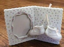 Collectible Precious Moments Bisque Porcelain Baby Picture Frame -Jesus Loves Me